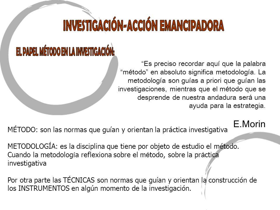 MÉTODO: son las normas que guían y orientan la práctica investigativa METODOLOGÍA: es la disciplina que tiene por objeto de estudio el método. Cuando
