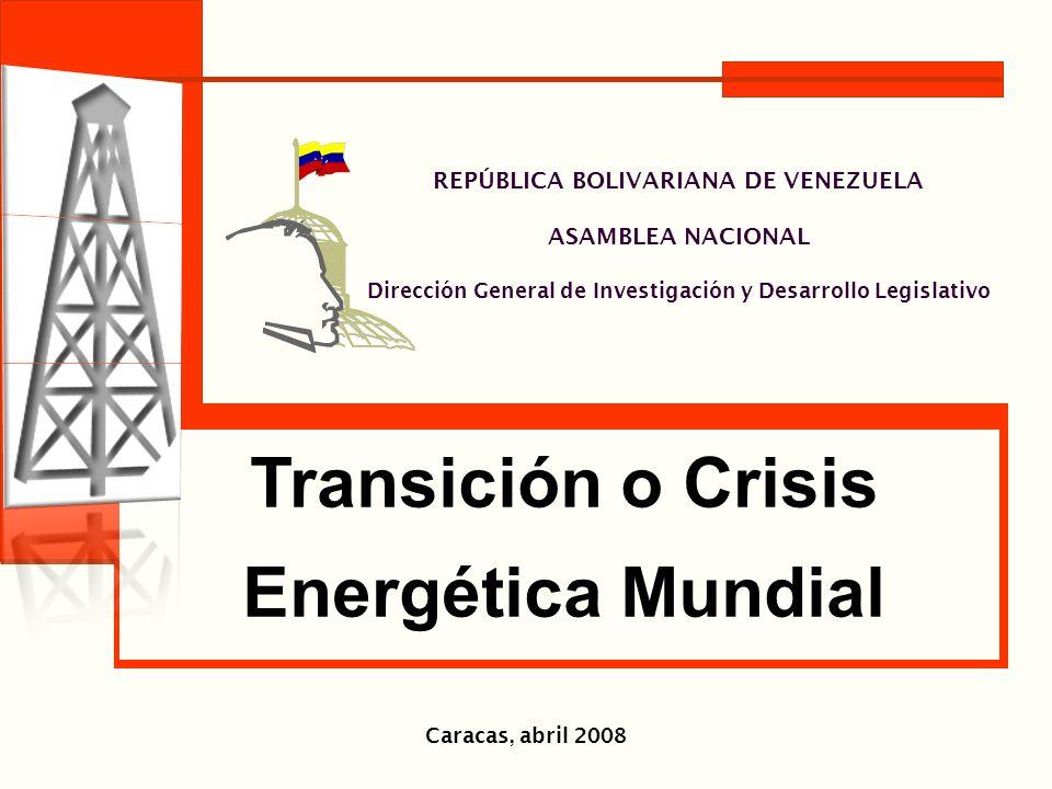 REPÚBLICA BOLIVARIANA DE VENEZUELA ASAMBLEA NACIONAL Dirección General de Investigación y Desarrollo Legislativo Caracas, abril 2008 Transición o Cris