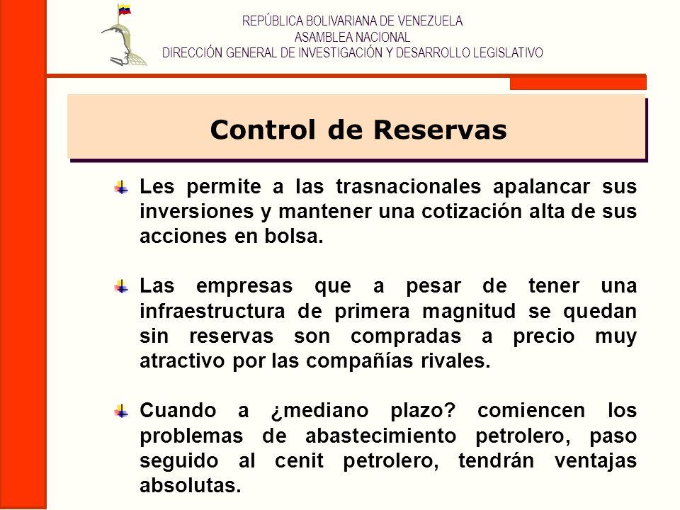REPÚBLICA BOLIVARIANA DE VENEZUELA ASAMBLEA NACIONAL DIRECCIÓN GENERAL DE INVESTIGACIÓN Y DESARROLLO LEGISLATIVO Les permite a las trasnacionales apal