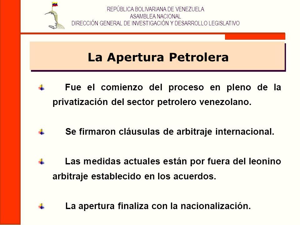 REPÚBLICA BOLIVARIANA DE VENEZUELA ASAMBLEA NACIONAL DIRECCIÓN GENERAL DE INVESTIGACIÓN Y DESARROLLO LEGISLATIVO Fue el comienzo del proceso en pleno