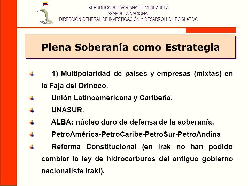 REPÚBLICA BOLIVARIANA DE VENEZUELA ASAMBLEA NACIONAL DIRECCIÓN GENERAL DE INVESTIGACIÓN Y DESARROLLO LEGISLATIVO 1) Multipolaridad de países y empresa