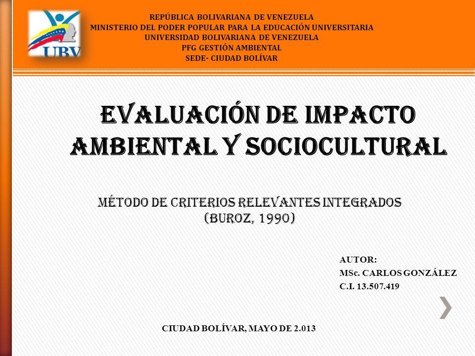 REPÚBLICA BOLIVARIANA DE VENEZUELA MINISTERIO DEL PODER POPULAR PARA LA EDUCACIÓN UNIVERSITARIA UNIVERSIDAD BOLIVARIANA DE VENEZUELA PFG GESTIÓN AMBIE
