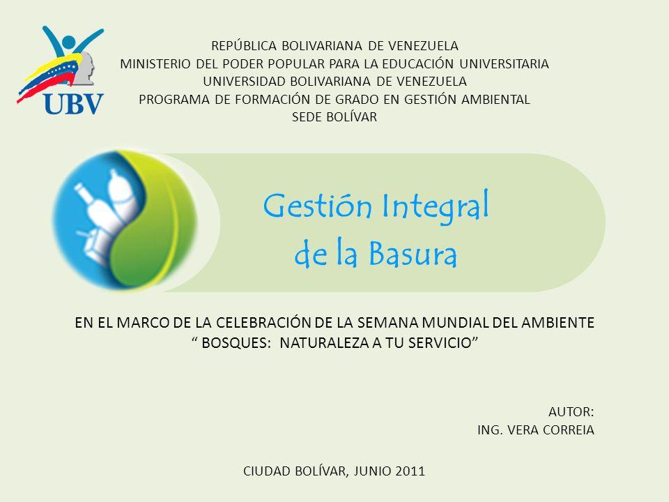 REPÚBLICA BOLIVARIANA DE VENEZUELA MINISTERIO DEL PODER POPULAR PARA LA EDUCACIÓN UNIVERSITARIA UNIVERSIDAD BOLIVARIANA DE VENEZUELA PROGRAMA DE FORMA