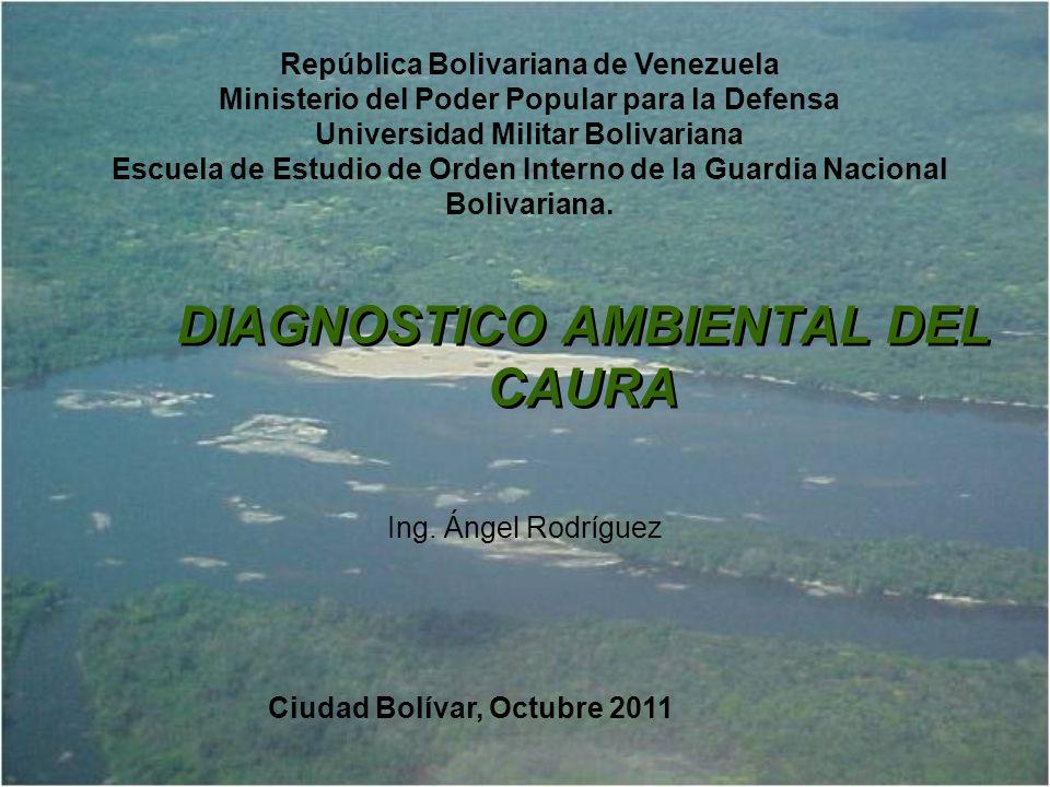 UBICACIÓN RELATIVA Venezuela Ubicación Relativa Superficies: Región del Río Caura: 6.113.100 ha Reserva Forestal El Caura: 5.143.000 ha 6,7% y 5% del total nacional Fue decretada como Reserva Forestal el 25 01-1.968, según Decreto Ejecutivo N° 1.045.