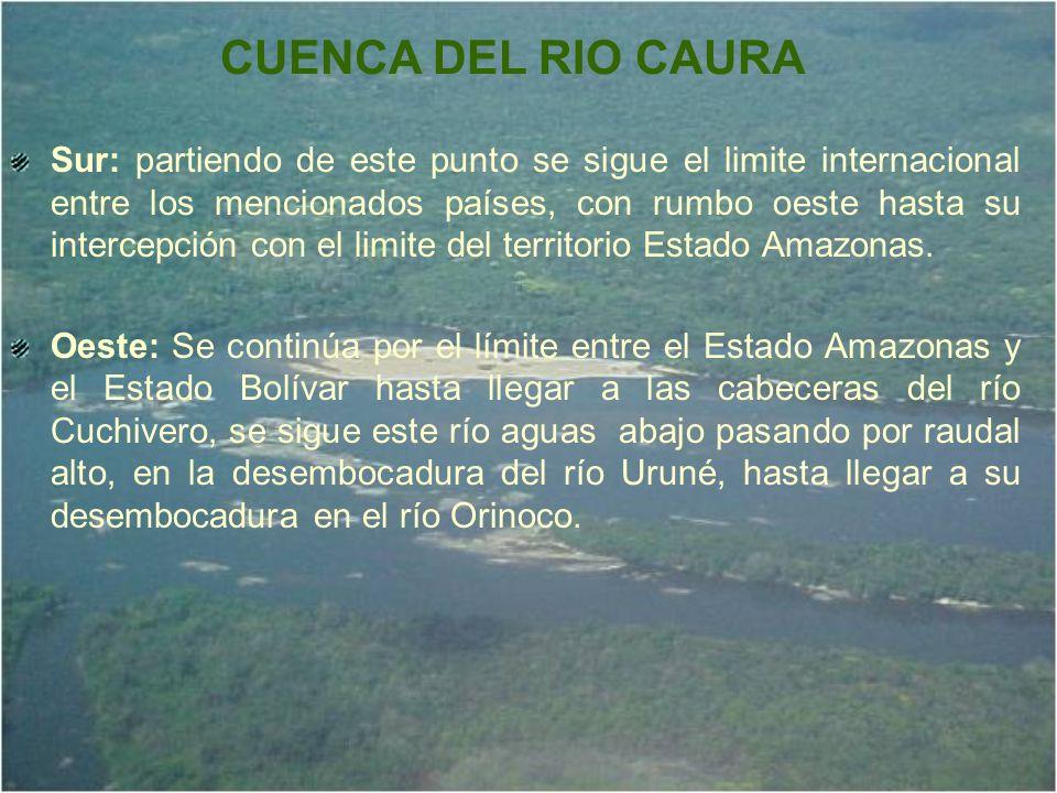 La zona descrita como actual reserva forestal, abarca un 85% de su superficie, dentro de los linderos de la cuenca del río Caura, uno de los principales tributarios del Orinoco medio con su nacimiento ubicado en la frontera con Brasil en las coordenadas 3° 37 N, luego fluye hacia el norte a través con un recorrido de aproximadamente 800 kilómetros, donde desemboca en el Río Orinoco en 7° 47 N.