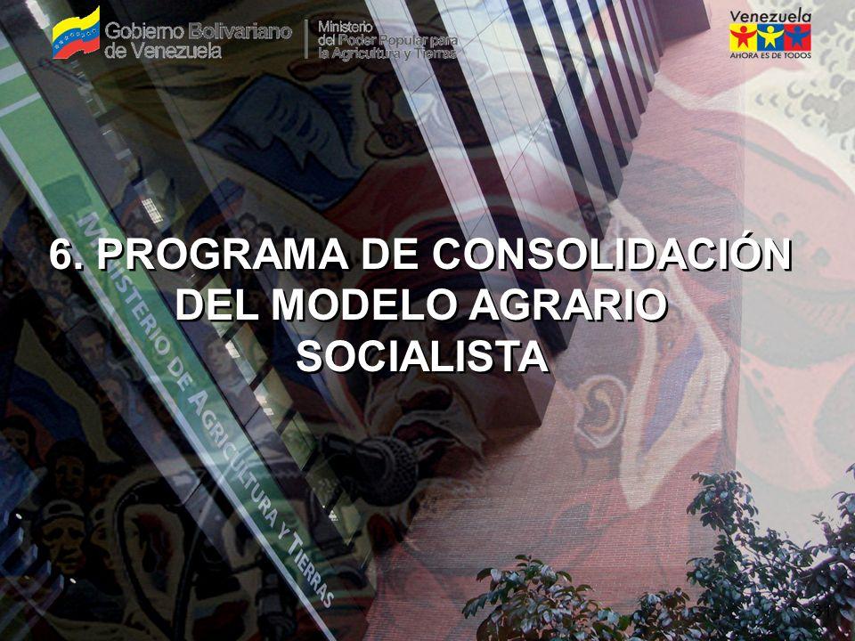 SEMBRANDO LA PATRIA SOCIALISTA 14 6. PROGRAMA DE CONSOLIDACIÓN DEL MODELO AGRARIO SOCIALISTA 31