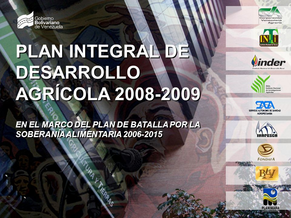 SEMBRANDO LA PATRIA SOCIALISTA 3 7 OBJETIVO ESTRATÉGICO IMPULSAR EL MODELO DE PRODUCCIÓN AGRÍCOLA SOCIALISTA, PARA GARANTIZAR LA SOBERANÍA AGROALIMENTARIA Y CONDICIONES DE VIDA DIGNA PARA EL PUEBLO VENEZOLANO.