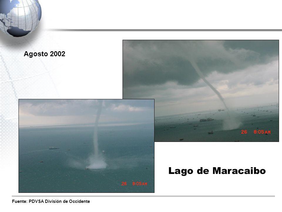 Fuente: PDVSA División de Occidente Agosto 2002 Lago de Maracaibo