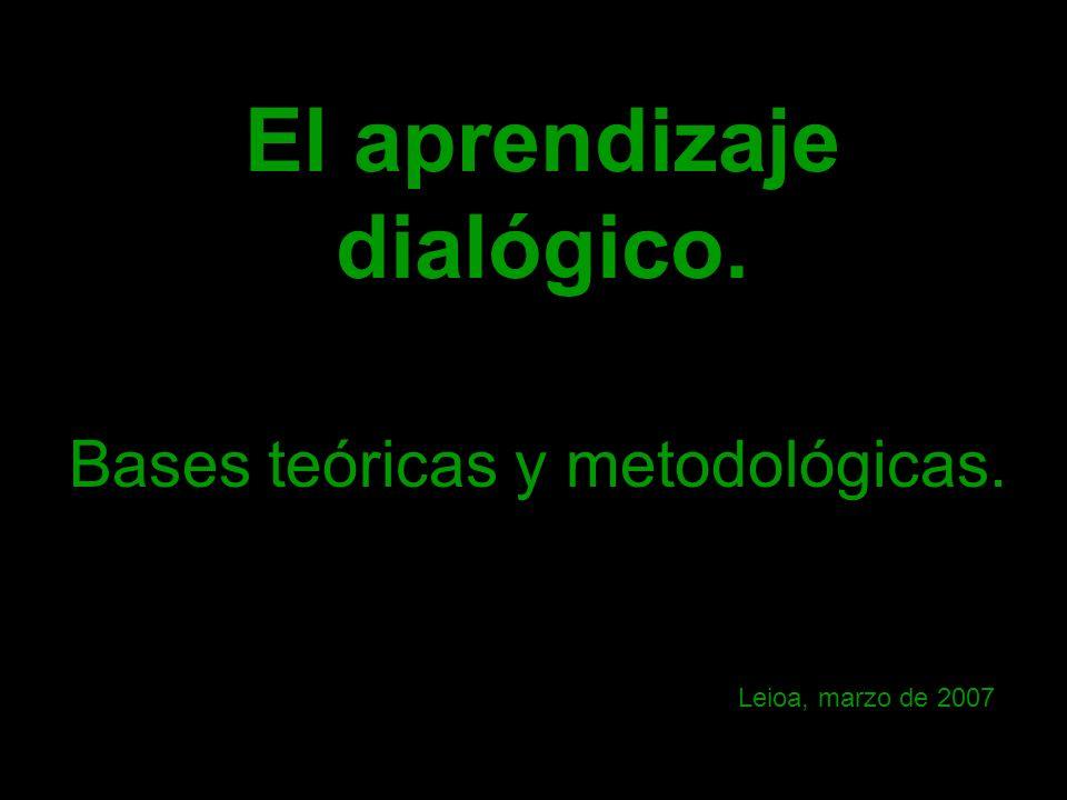 El aprendizaje dialógico. Bases teóricas y metodológicas. Leioa, marzo de 2007