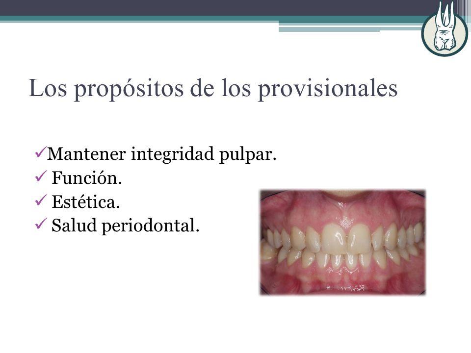 Técnicas Indirectas: matriz de acetato. dientes de prótesis total.