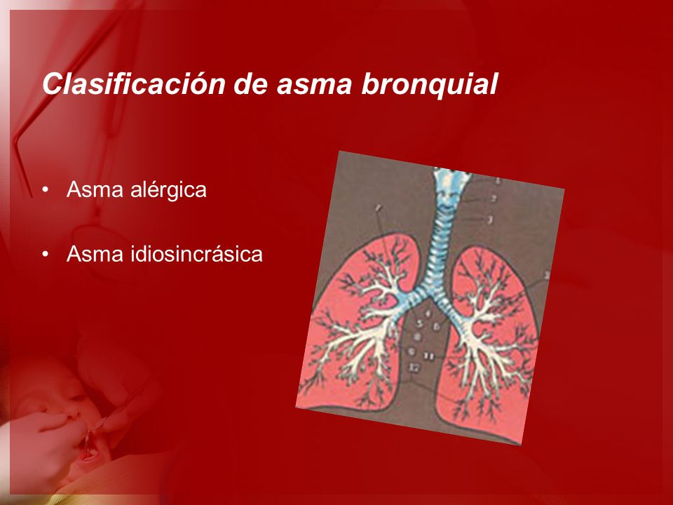 Clasificación de asma bronquial Asma alérgica Asma idiosincrásica