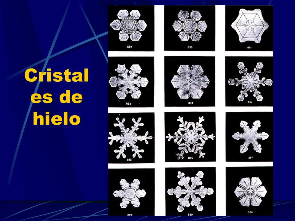 Cristal es de hielo