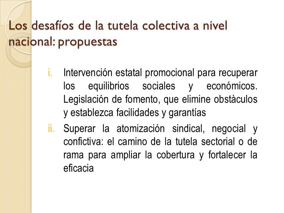 Los desafíos de la tutela colectiva a nivel nacional: propuestas i.Intervención estatal promocional para recuperar los equilibrios sociales y económic