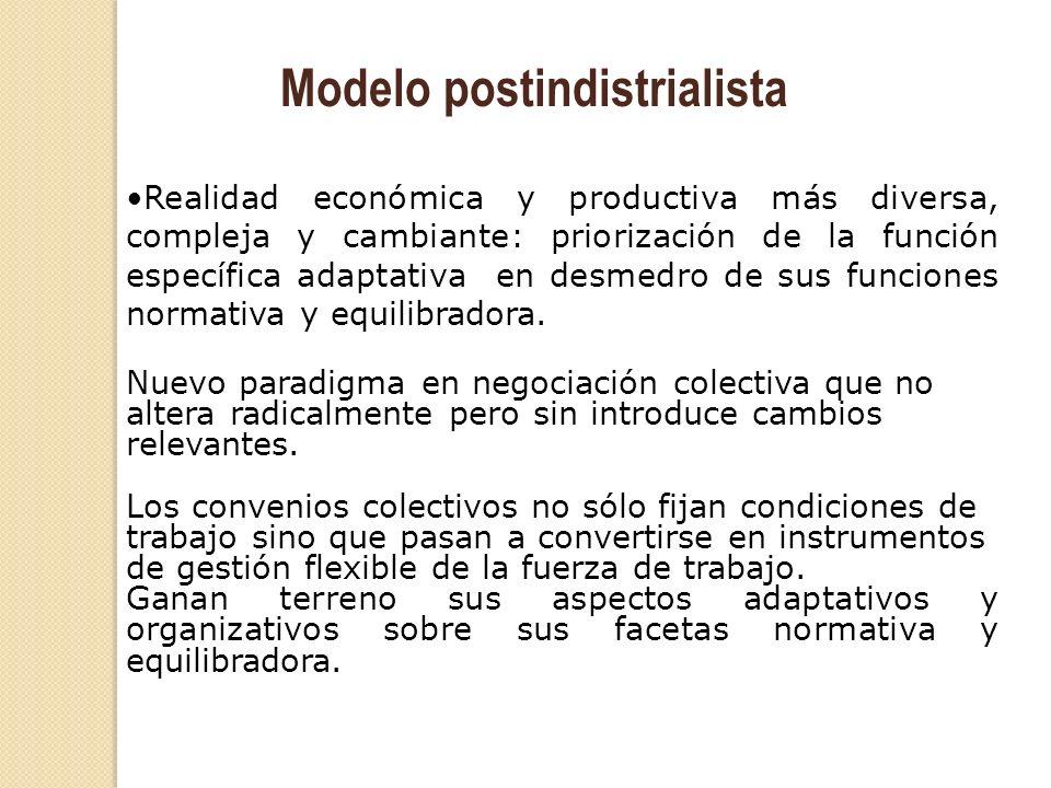 Realidad económica y productiva más diversa, compleja y cambiante: priorización de la función específica adaptativa en desmedro de sus funciones norma
