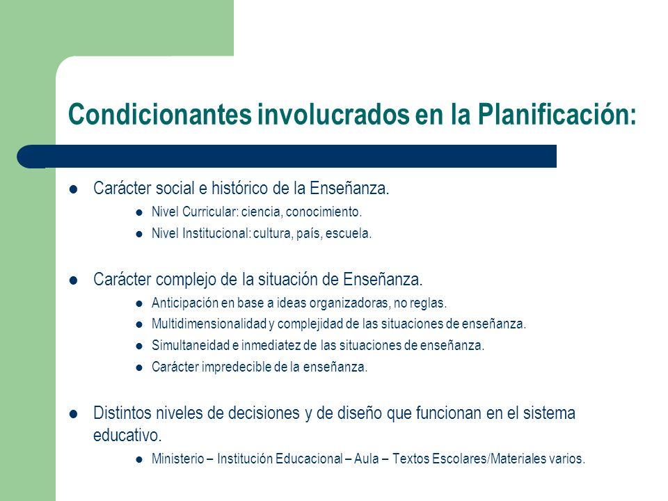 4 atributos deseables de la Planificación: Científico/Reflexivo Pasión Práctico Público