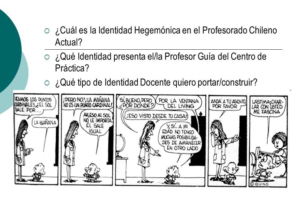 ¿Cuál es la Identidad Hegemónica en el Profesorado Chileno Actual? ¿Qué Identidad presenta el/la Profesor Guía del Centro de Práctica? ¿Qué tipo de Id