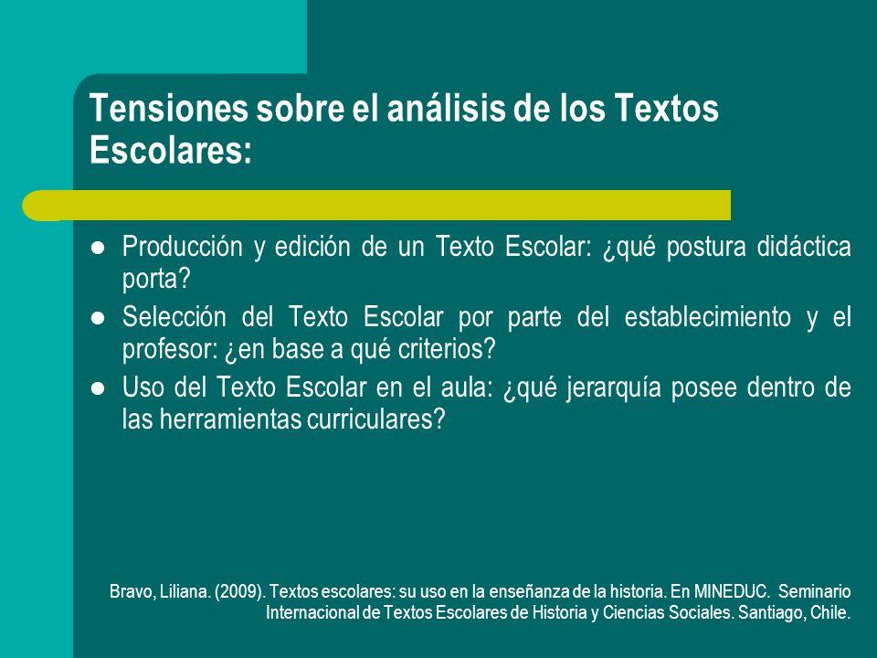 Posturas frente a los Textos Escolares: Postura Crítica: Concepción cultural estática, cerrada, alejada a quien lo utiliza.