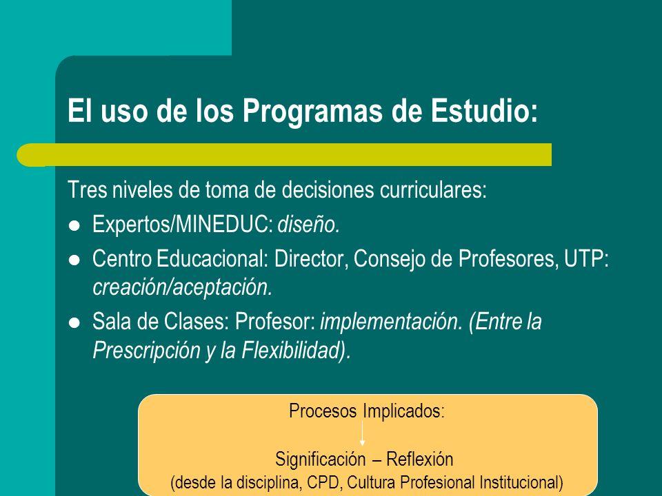 Orientaciones del Marco Curricular y su relación con los Programas de Estudio: Pedagogía Constructivista.