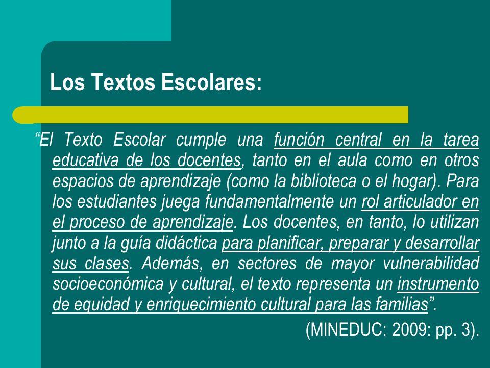 Entrega de Textos Escolares: A) Criterios: - Innovación.
