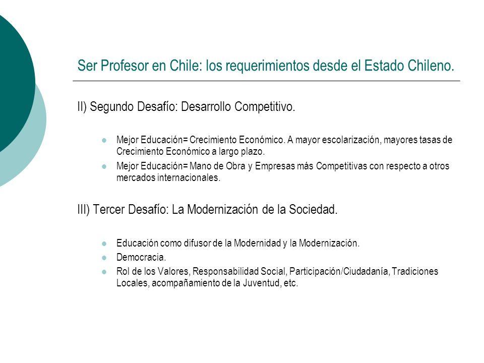 Ser Profesor en Chile: los requerimientos desde el Estado Chileno.