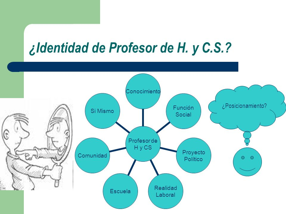 ¿Identidad de Profesor de H. y C.S.? ¿Posicionamiento?