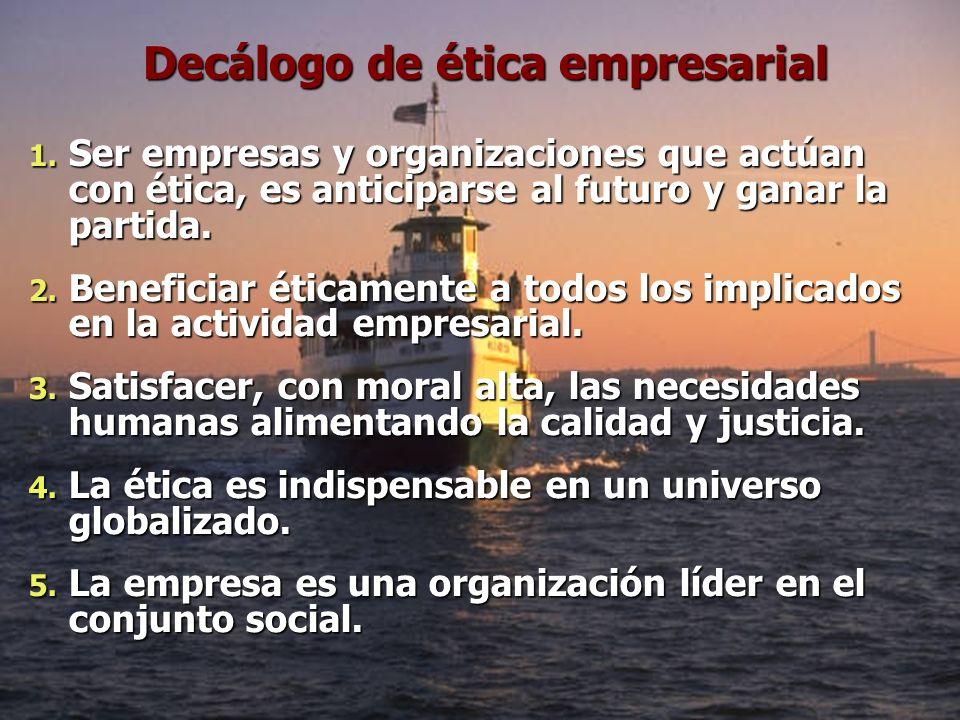 Facultad de Ciencias Administrativas ULADECH 17 William Sánchez Ochoa 1. S er empresas y organizaciones que actúan con ética, es anticiparse al futuro
