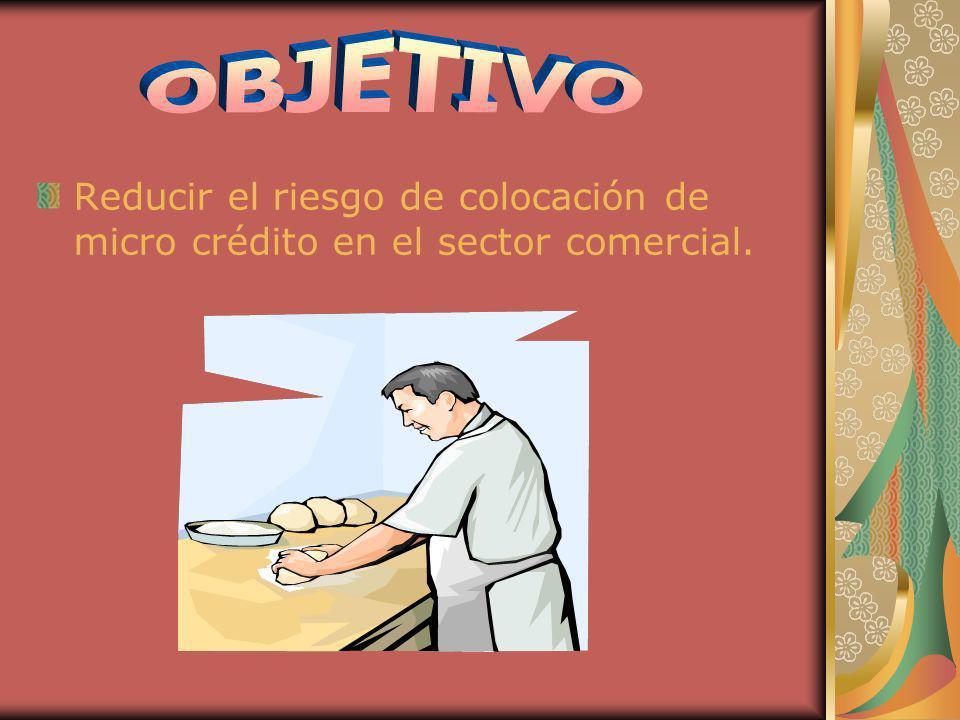 Reducir el riesgo de colocación de micro crédito en el sector comercial.