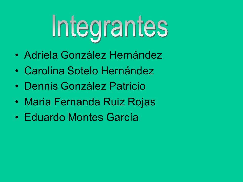 Adriela González Hernández Carolina Sotelo Hernández Dennis González Patricio Maria Fernanda Ruiz Rojas Eduardo Montes García