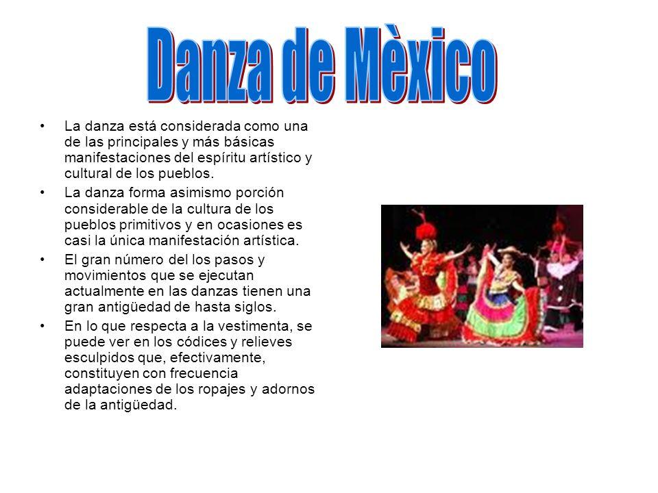 La danza está considerada como una de las principales y más básicas manifestaciones del espíritu artístico y cultural de los pueblos. La danza forma a