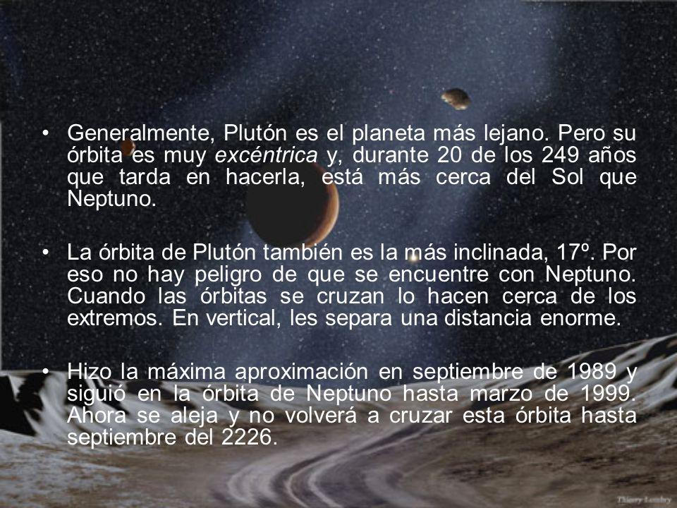 Generalmente, Plutón es el planeta más lejano. Pero su órbita es muy excéntrica y, durante 20 de los 249 años que tarda en hacerla, está más cerca del