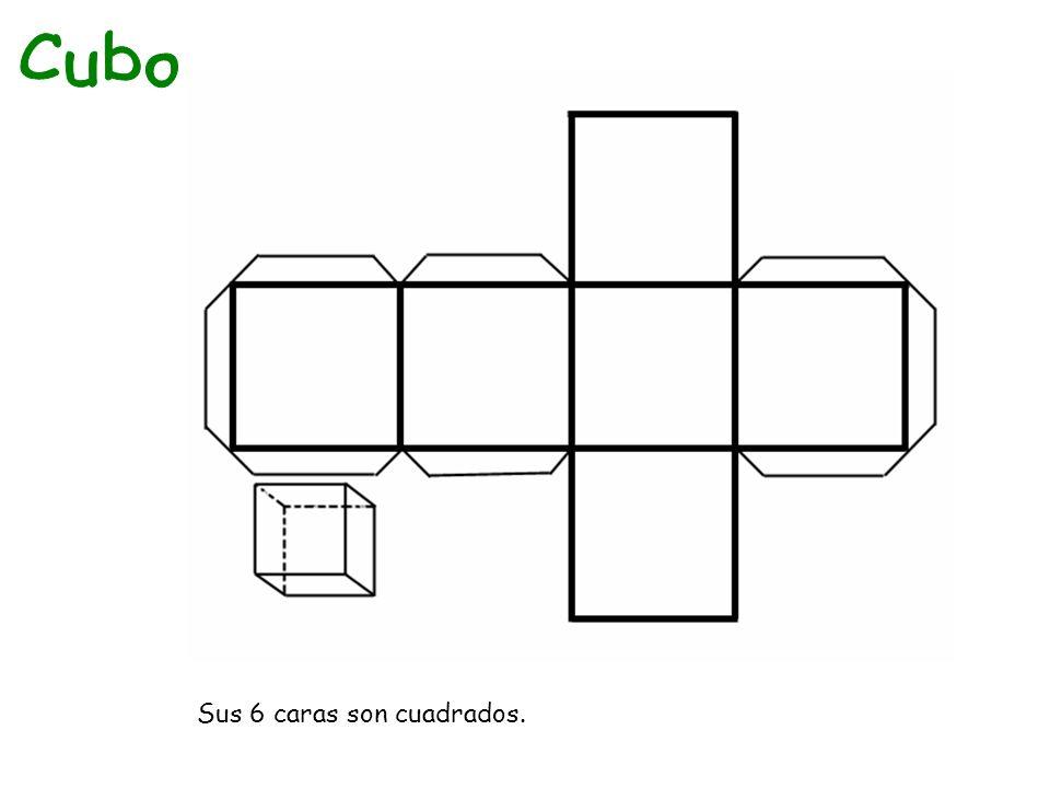 Sus 6 caras son cuadrados.