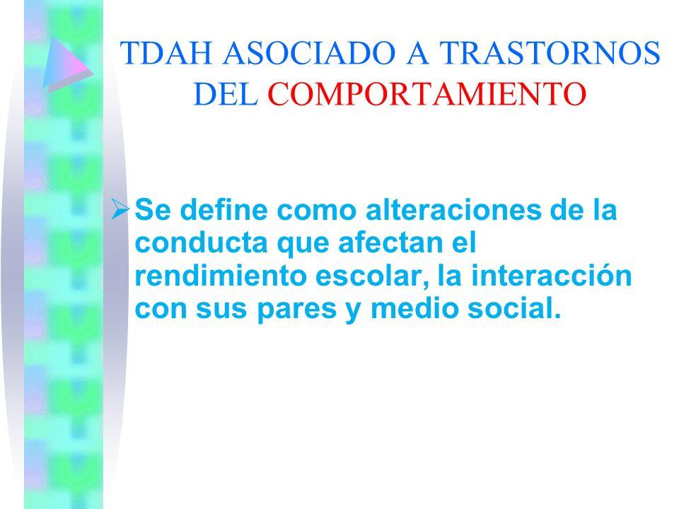 TDAH ASOCIADO A TRASTORNOS DE LA COMUNICACIÓN Se define como alteraciones de la comunicación, los trastornos del lenguaje que afectan la interacción c