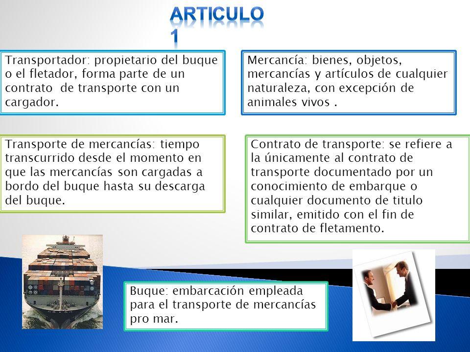 Clausula compromisoria Las reglas de Hamburgo consideran validas la clausula mediante la cual las partes pacten que cualquier controversia relativa al transportador de mercancías debe ser sometida a arbitraje.