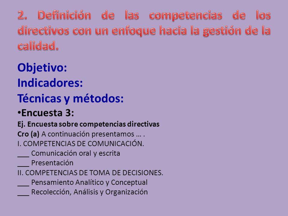 Objetivo: Indicadores: Técnicas y métodos: Dinámica de grupo (Taller): a)Organización de la dinámica: Pregunta General (5 minutos).