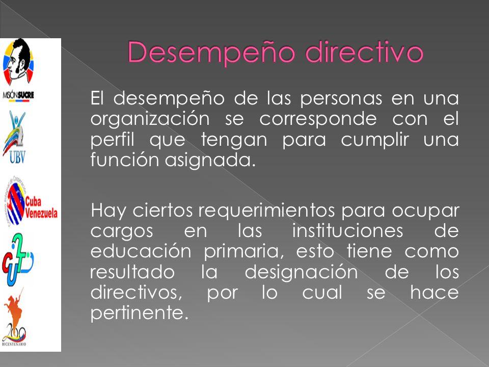 El desempeño de las personas en una organización se corresponde con el perfil que tengan para cumplir una función asignada.