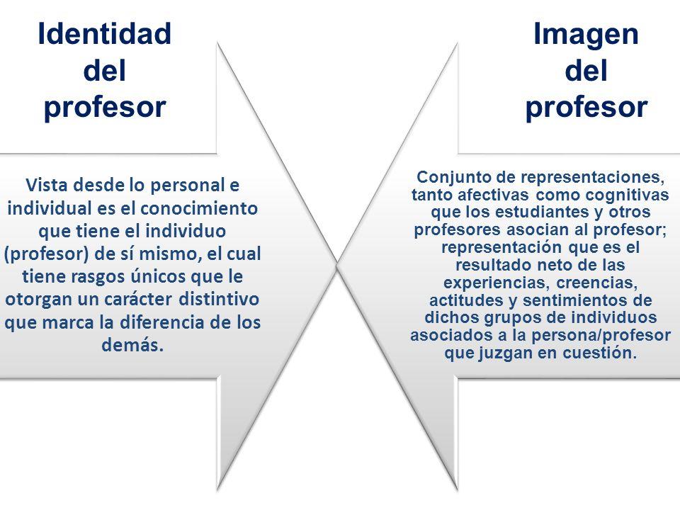 Vista desde lo personal e individual es el conocimiento que tiene el individuo (profesor) de sí mismo, el cual tiene rasgos únicos que le otorgan un c
