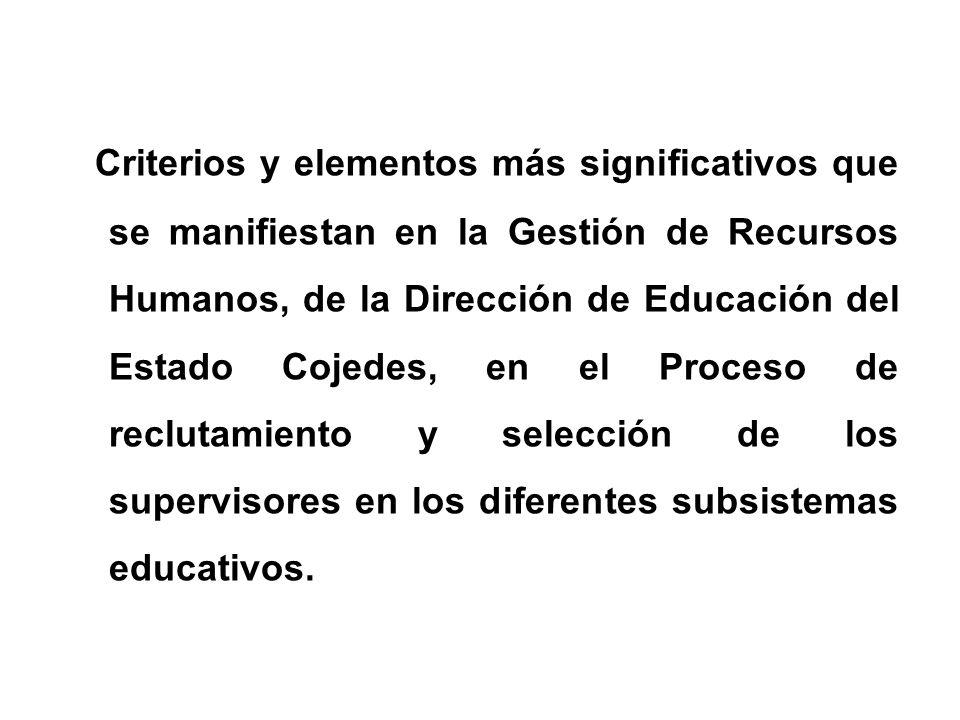 PRIMERA JORNADA CIENTÍFICO- METODOLÓGICA Misión Sucre-Estado Cojedes La Gestión de los Recursos Humanos, en la estructura Estadal de la Dirección de Educación del Estado Cojedes.