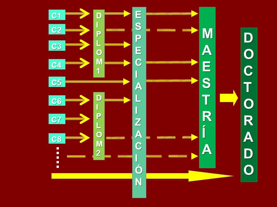 MAESTRÍA MAESTRÍAMAESTRÍA MAESTRÍA DOCTORADODOCTORADODOCTORADODOCTORADO C3 C2 C1 C5 C4 C6 C7 C8 ESPECIALIZACIÓNESPECIALIZACIÓNESPECIALIZACIÓNESPECIALIZACIÓN DIPLOMDIPLOM11DIPLOMDIPLOM111 DIPLOM2DIPLOM2DIPLOM2DIPLOM2