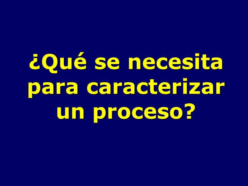 ¿Qué se necesita para caracterizar un proceso?