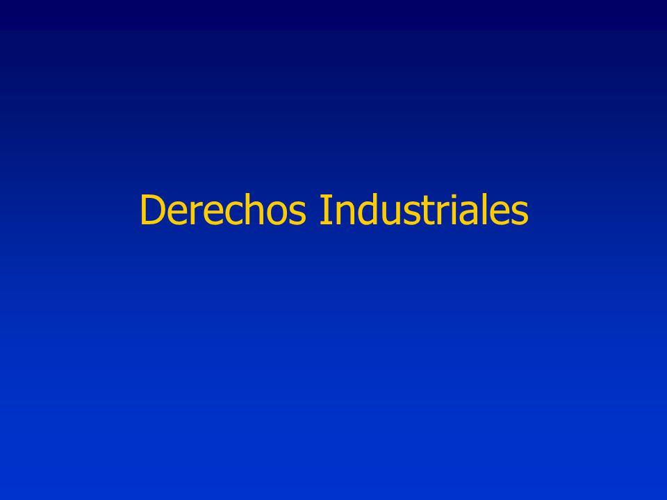 Regulan: Marcas Patentes Modelos y diseños industriales Régimen Legal: Leyes y decretos Jurisdicción federal en lo comercial >Derechos Industriales
