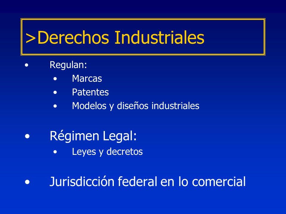 Modelos y Diseños Industriales –Formas o aspectos aplicados a un producto industrial, que le confiere carácter ornamental.