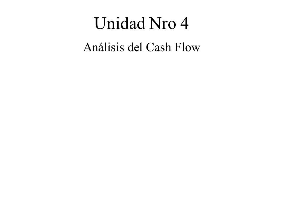Unidad Nro 4 Análisis del Cash Flow