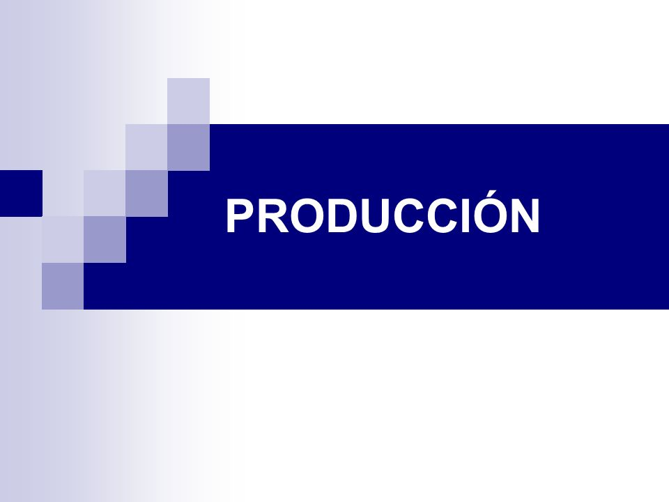 PRODUCCIÓN Conceptos básicos Producto: bien o servicio que resulta de la suma de las características físicas o no físicas que intervienen en el logro de la satisfacción del cliente final Capacidad productiva: número máximo de unidades de salida fabricadas por unidad de tiempo