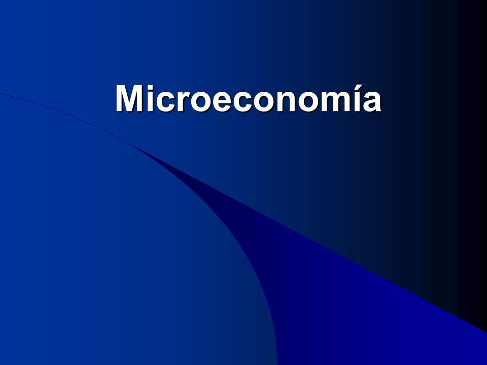 Microeconomía Microeconomía