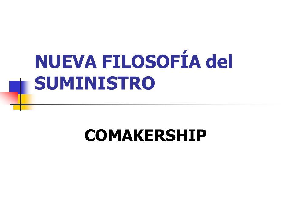 NUEVA FILOSOFÍA del SUMINISTRO COMAKERSHIP