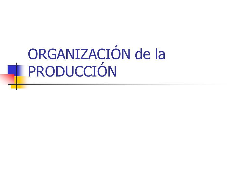 ORGANIZACIÓN de la PRODUCCIÓN