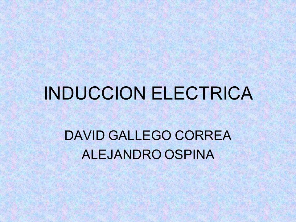 INDUCCION ELECTRICA DAVID GALLEGO CORREA ALEJANDRO OSPINA