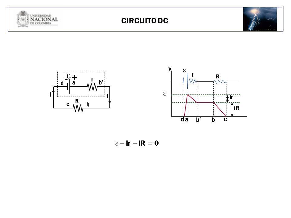 CIRCUITO DC b d I - + a I R r c b