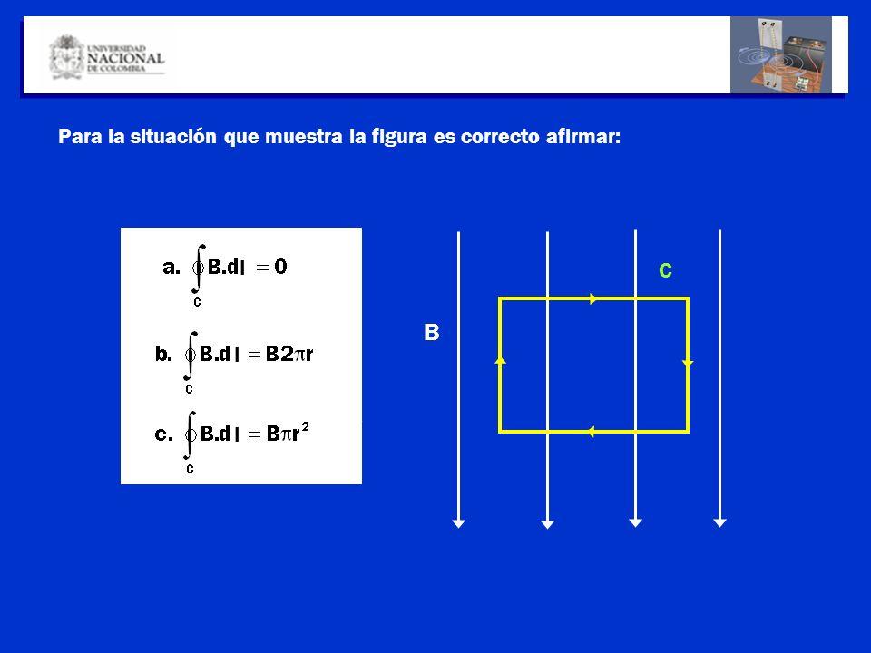 Para la situación que muestra la figura es correcto afirmar: B C l l l