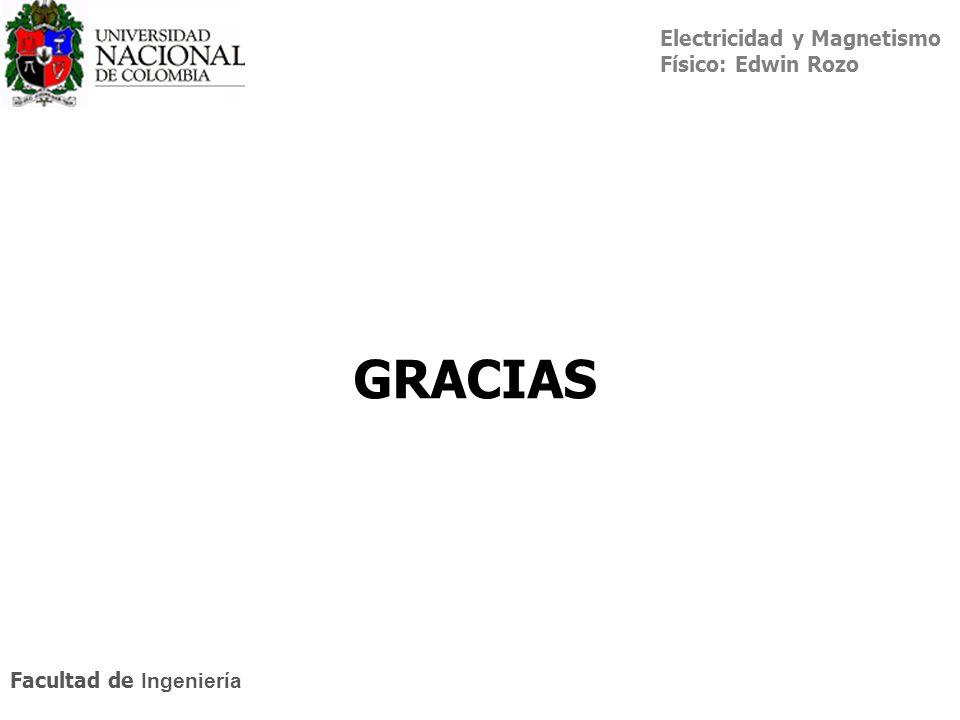 Electricidad y Magnetismo Físico: Edwin Rozo Facultad de Ingeniería GRACIAS